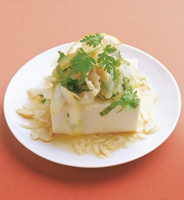 豆腐の実力 レシピ セロリと香菜の冷ややっこ