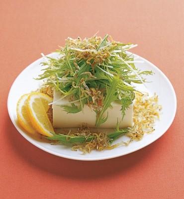 豆腐の実力 レシピ 水菜のじゃこ