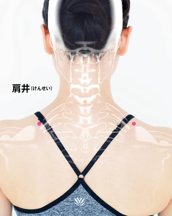 更年期に効くツボ 肩井ツボ位置