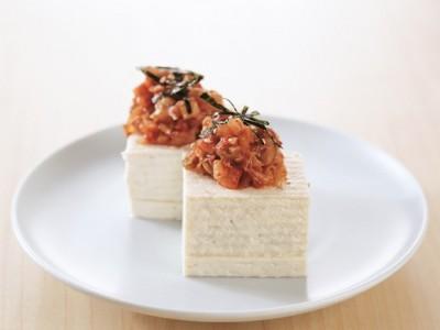豆腐の実力 レシピ キムチ納豆やっこ