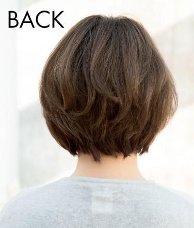 髪と頭皮 ハーフウィッグ 着用バック