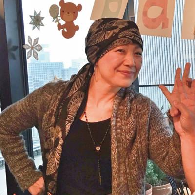 知っておきたい乳がん 國松雅子さん スカーフ