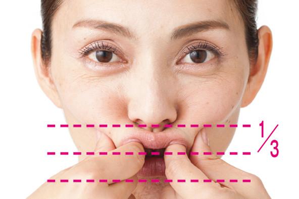 「顔グセ直し」で筋肉を元の位置に引き上げ!③口元