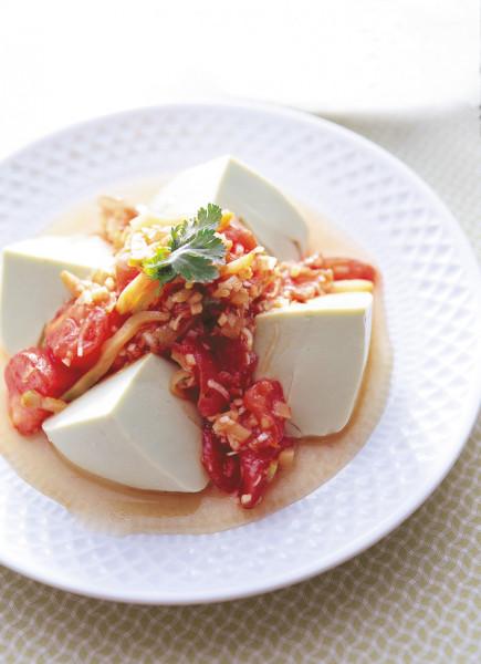 豆腐の実力 豆腐とトマトの中華風サラダ