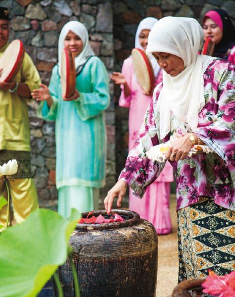 タンジョン・ジャラ・リゾート 毎朝の儀式