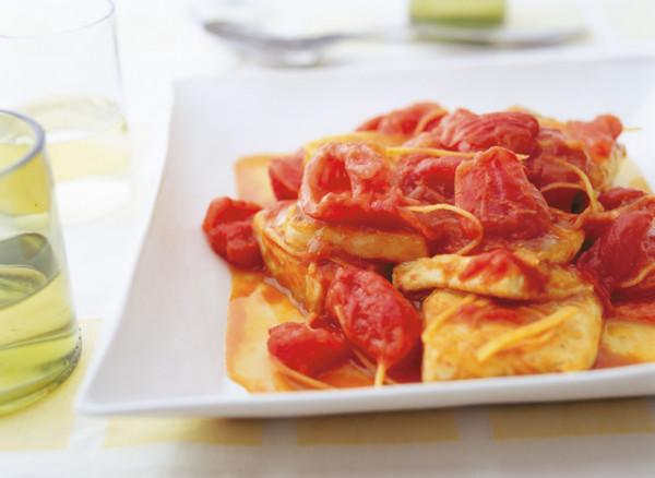 豆腐の実力 豆腐とトマトの炒め物