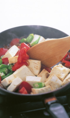 豆腐の実力 オイスターソース炒める