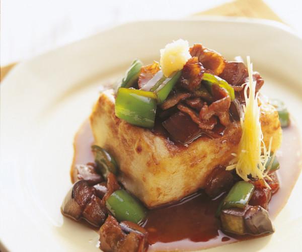 豆腐の実力 豆腐ステーキ豚肉となす