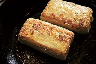 豆腐の実力 ピカタ風 焼きあがり