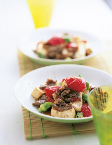 豆腐の実力 豆腐と牛肉のオイスターソース炒め