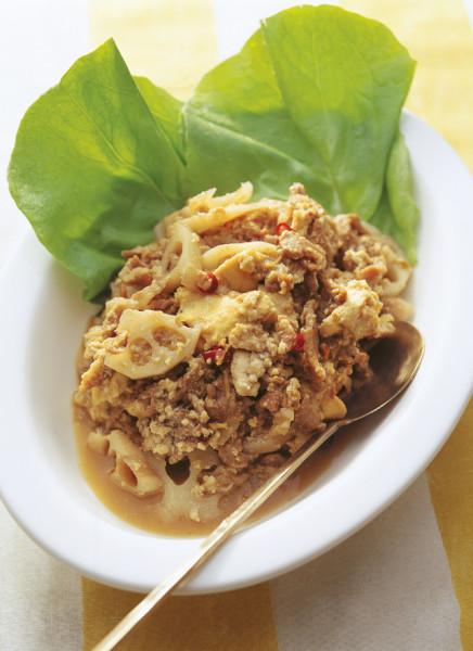 豆腐の実力 れんこんの炒め物