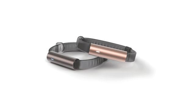 ウェアラブル活動 量計「MISFIT RAY」は、本体わずか8g で、最先端のテクノロジーを搭載。充電不 要で防水なので、手首に24時間つけっぱ なしOK。スタイリッシュなデザインなの で、いつでも着用していられます