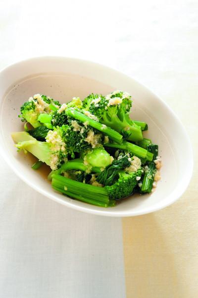 レシピ⑮緑黄色野菜の生姜醤油びだし