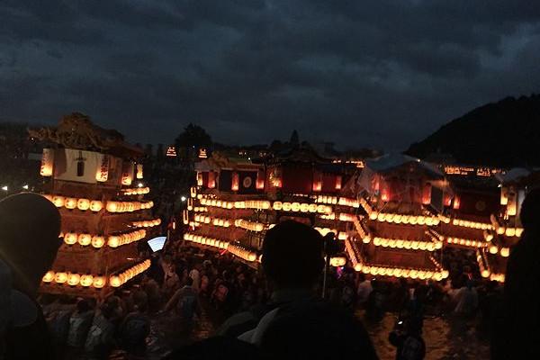 四国の霊峰 石鎚山の麓、西条市の「西条祭り」へ