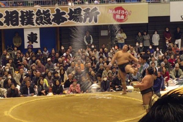 始終笑いっぱなし! 熊本のまちに「お相撲」がやって来ました