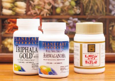 体調管理のサプリはアメリカで調達。便秘に「トリファラゴールド」、強壮に「アシュワガンダ」、疲れに「レオピンファイブキャプレット」