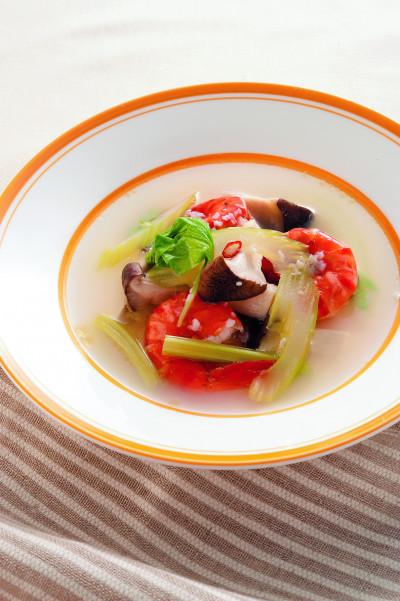 レシピ22セロリとエビのスープ(ミラクル免疫力)