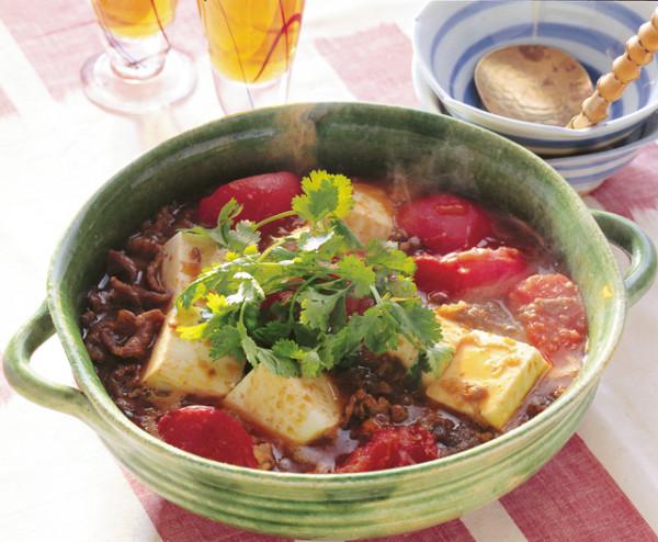 豆腐の実力 牛肉トマトの煮物