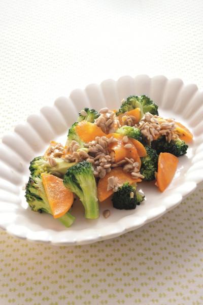 免疫力レシピ43:ブロッコリーとひまわりの種の炒め物