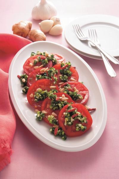 レシピ:25薬味塩麹オイルがけトマト