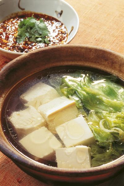 豆腐の実力 中国風湯豆腐