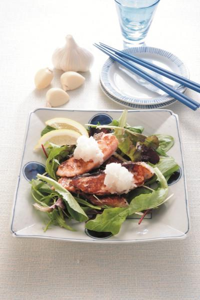 免疫力レシピ51:鮭の塩麹にんにく焼き