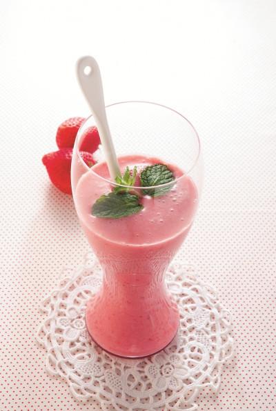 免疫力レシピ57:いちごと麹ジャムのジュース