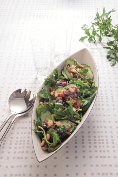 免疫力レシピ50:雑穀のエスニックサラダ