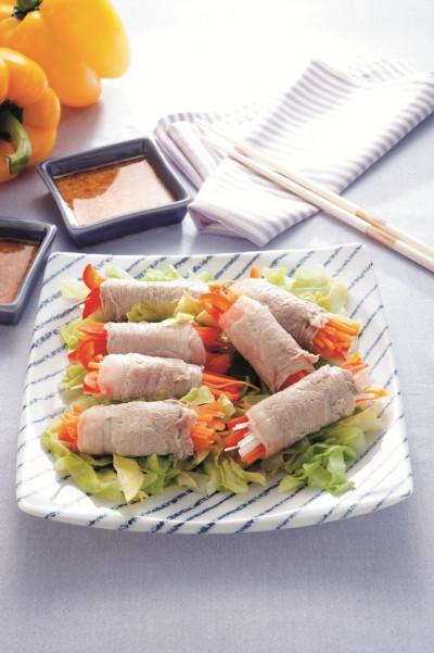 免疫力レシピ54:豚もも肉の野菜巻き蒸し