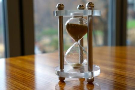 井原さん 砂時計