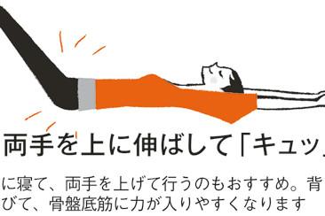 呼吸法でチェック&鍛える! 骨盤底筋トレーニング③