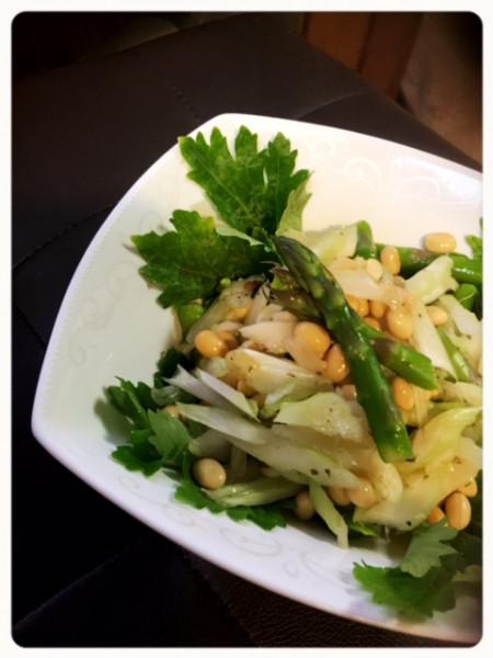 樫出さん セロリと大豆のグリーンサラダ
