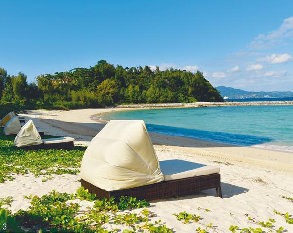 沖縄ウェルネストリップ ブセナ 早朝のビーチ