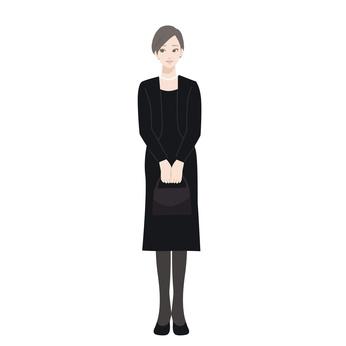 しきたり54イラスト:弔問の服装
