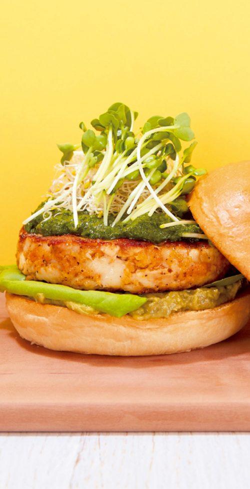 「食」のトレンド10 グリーンバードバーガー
