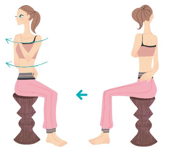 痩せ体質 背中と首