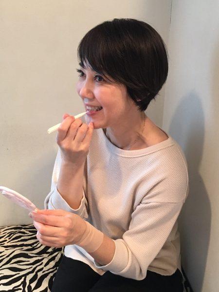 石井さん 先生と歯間ブラシ