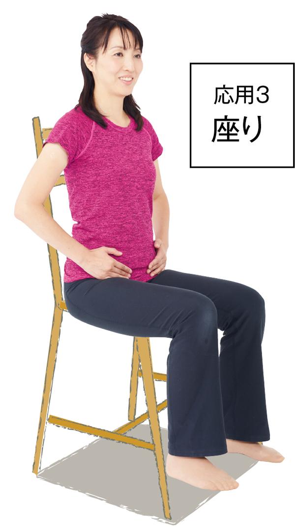 骨盤まわり 座り