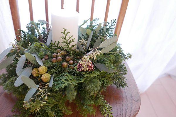 クリスマスリースと冬のおもてなし