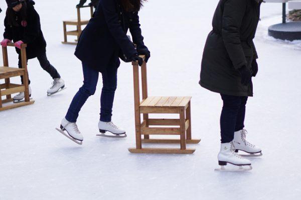 国設軽井沢野鳥の森にあるケラ池でスケート体験いかがですか
