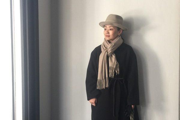 インフル明けで神田明神へ初詣。ウール素材中心の防寒ファッションで。