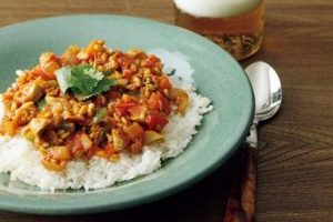 スーパー大麦レシピ⑤/スーパー大麦ときのこのキーマカレー
