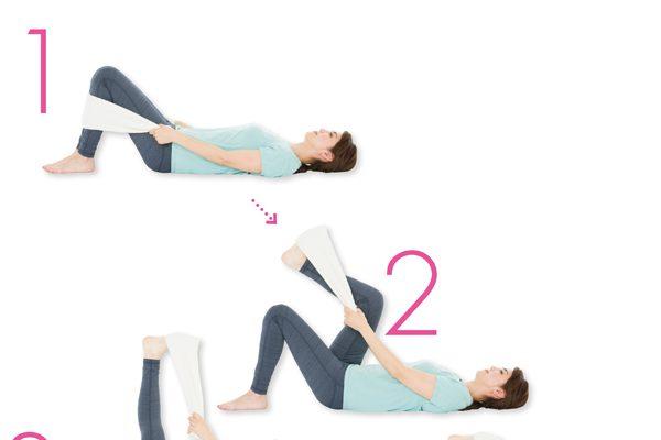 ストレス最小の体をつくる/「ねたままストレッチ」STEP2〈タオル〉ストレッチ