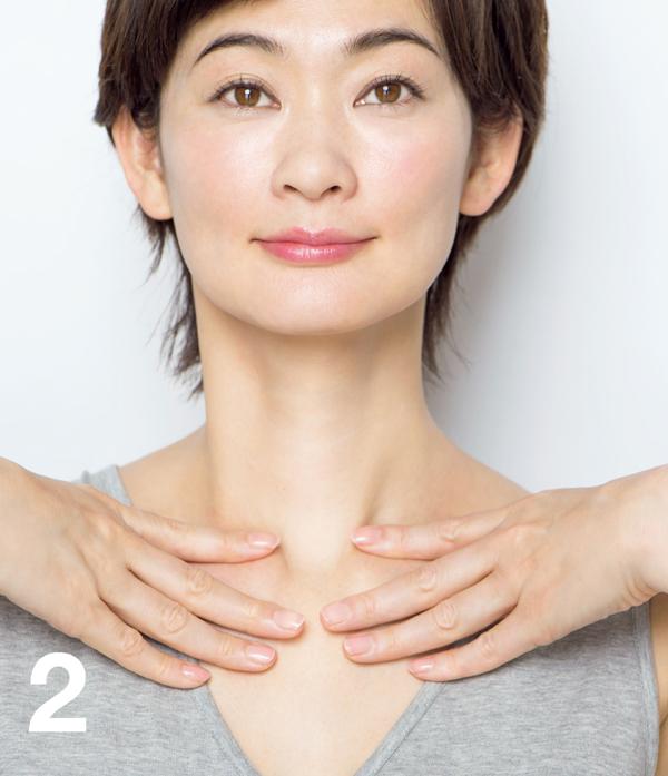 顔たるみ 鎖骨筋膜2