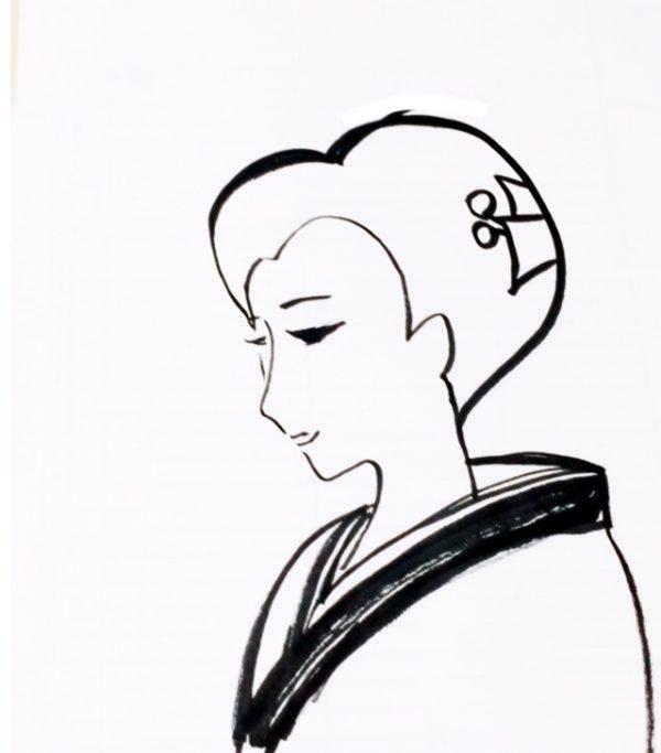 樫出さん 女性イラスト