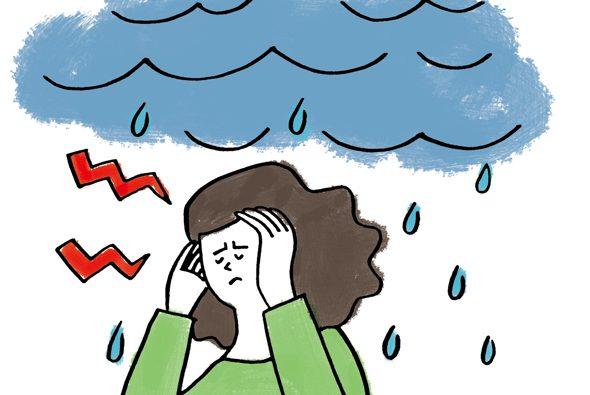 梅雨は、女性に多い天気痛に要注意!①さまざまな不快な症状