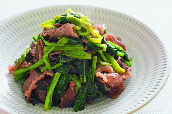 PART1「まとめ野菜」ストック③小松菜の煮びたしストック/牛肉と小松菜の炒め物