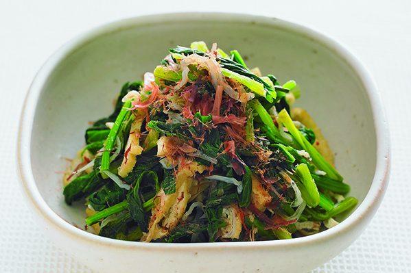 PART1「まとめ野菜」ストック②小松菜の煮びたしストック/油揚げとじゃこ入り煮びたし