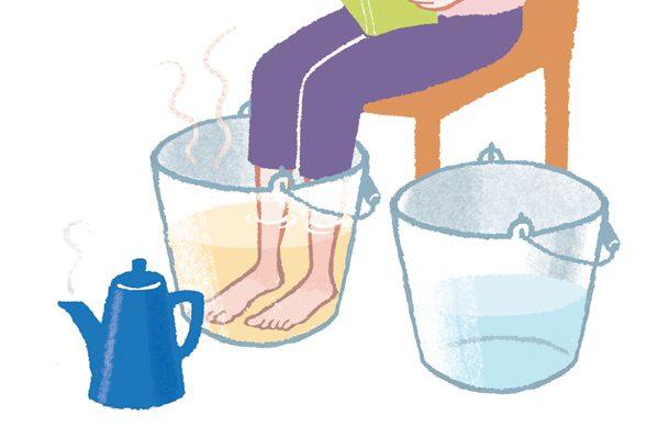 冷えとり名人が指南/お風呂編②足湯で冷えやほてりをとる