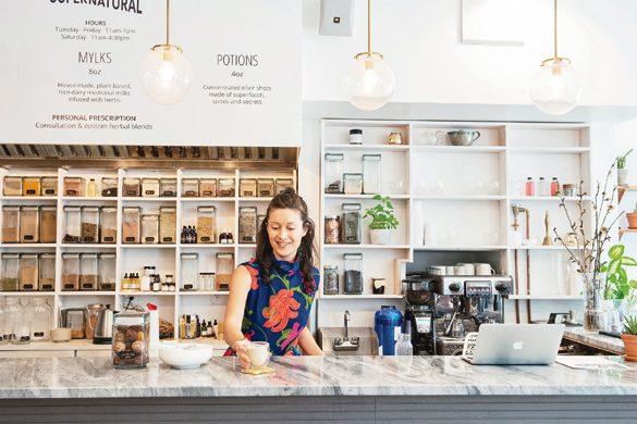 NYのヘルシーカフェ②ハーブのバリスタが調合、アダプトゲンが摂れるお茶やミルク